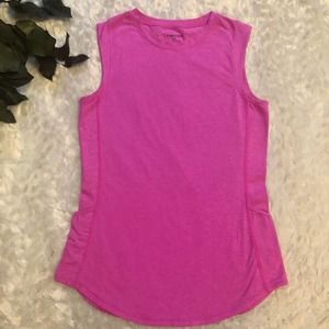 Fabletics Hot Pink Breathable Round Neck Athletic Tank